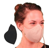 Honeycomb Pollution Mask with Coconut Classic Filter