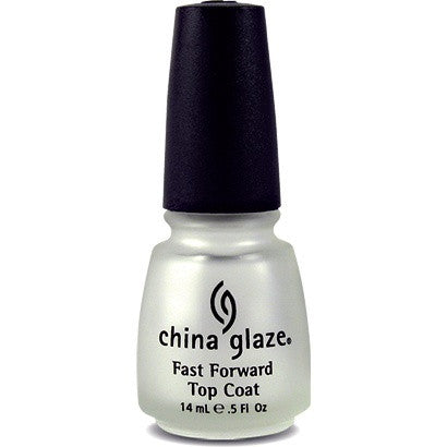 China Glaze Nail Treatment 14ml - Fast Forward Top Coat - Love This Colour