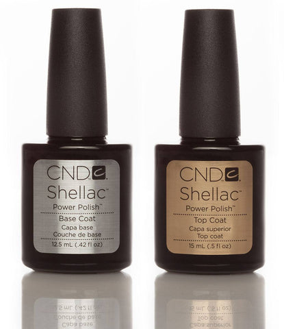 CND Shellac Base & Top Coat Duo 15ml - Love This Colour