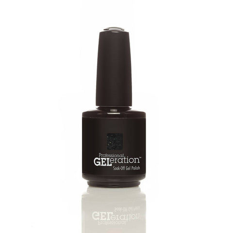 Jessica GELeration Soak Off UV Gel - Black Diamonds 15ml - Love This Colour  - 2
