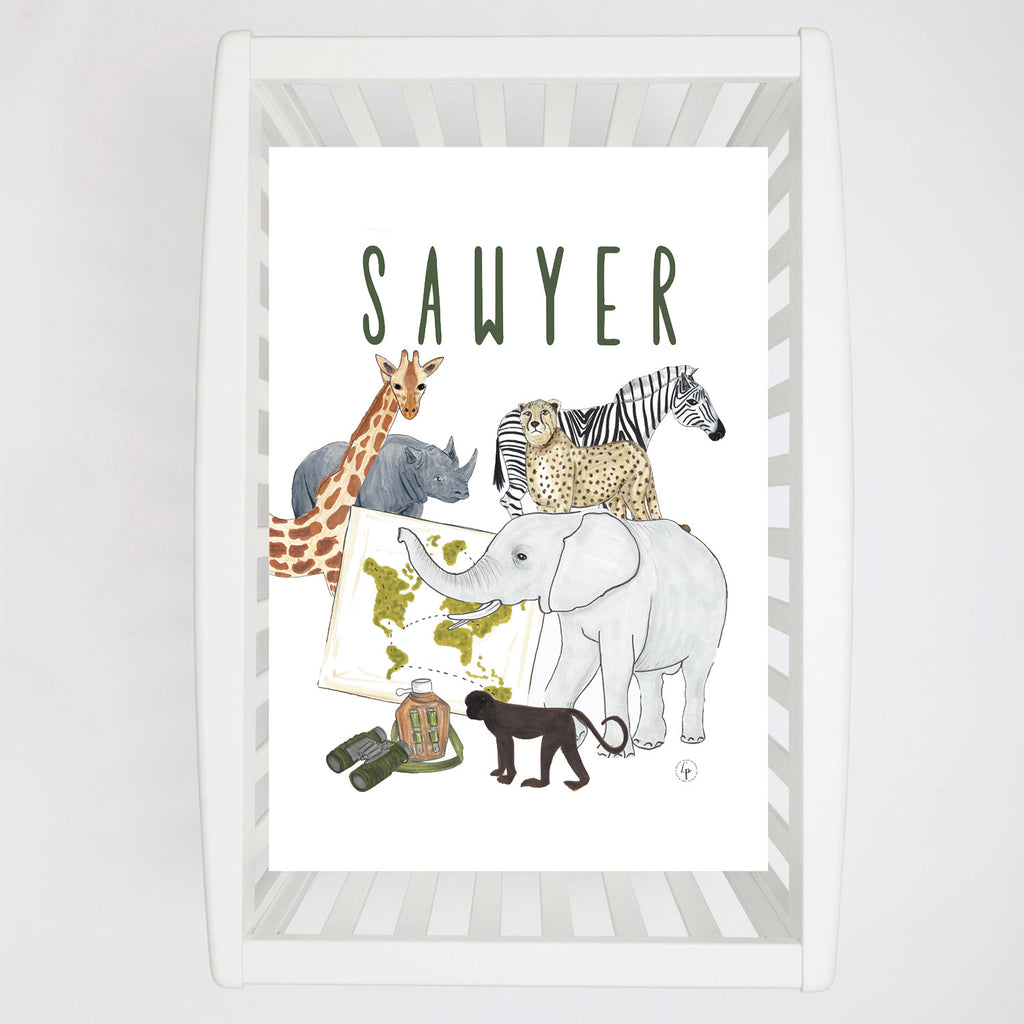 Safari Party Crib sheet
