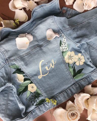 Handpainted Full Bloom Kids Jacket