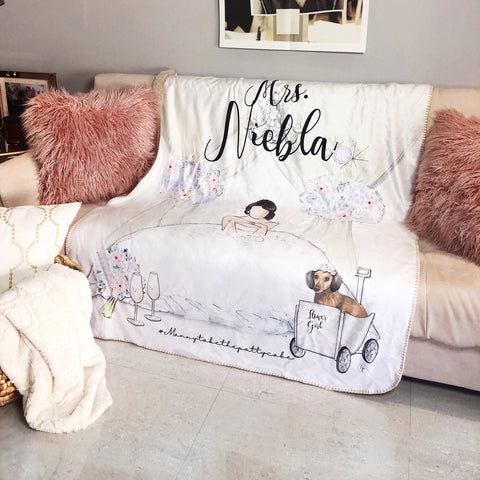 Custom Mrs. Blanket With your Pet