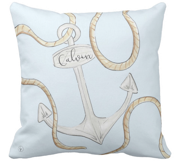 Out at Sea Personalized Pillow
