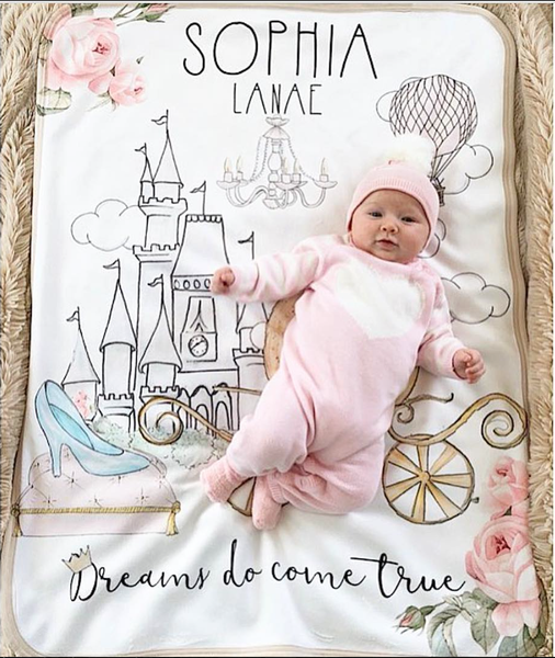 Dreams do come true personalized blanket