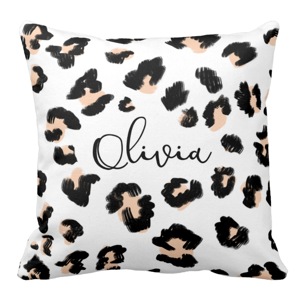 She's Wild Cheetah Personalized Pillow