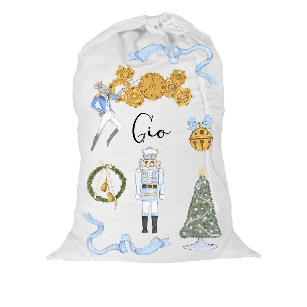 Blushing Boy Nutcracker Christmas Gift Sack