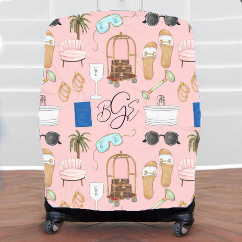 Jet lagged Luggage Cover