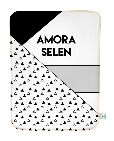 Monochrome Personalized Blanket