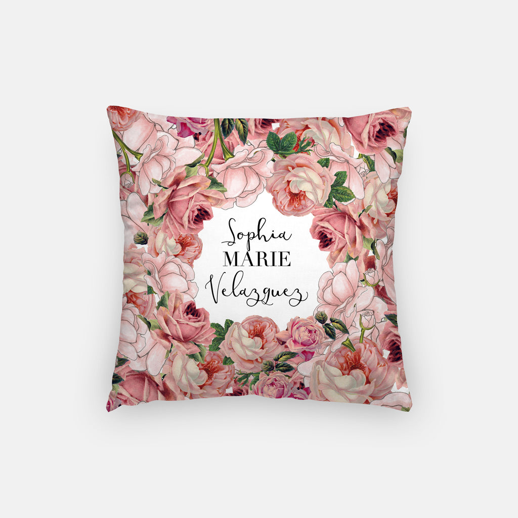 Blooming Personalized Pillow