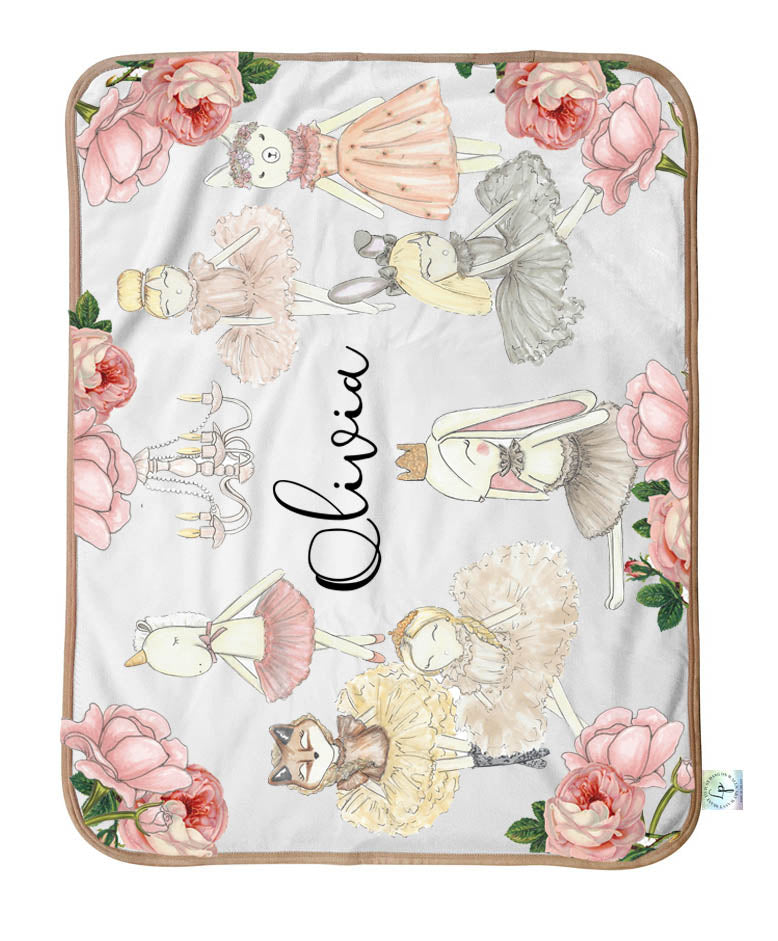 Whimsical Ballerina Personalized Blanket