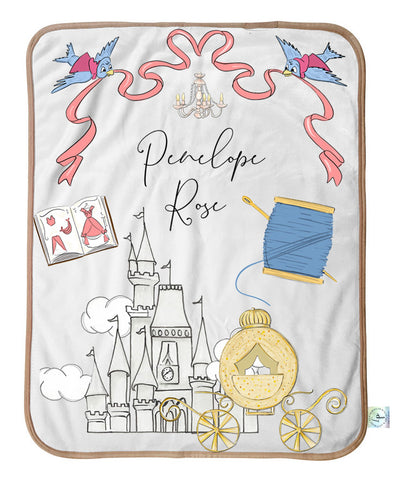 Clock Strikes Midnight Personalized Blanket