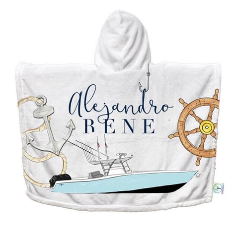 Nautical Hooded Beach / Bath Towel