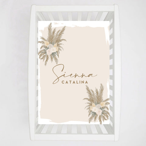 Pampas Baby Crib Sheet