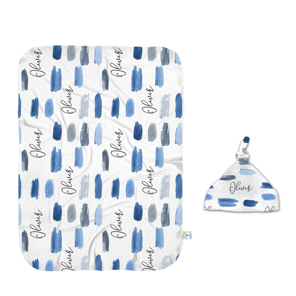 Watercolor Blues Swaddle