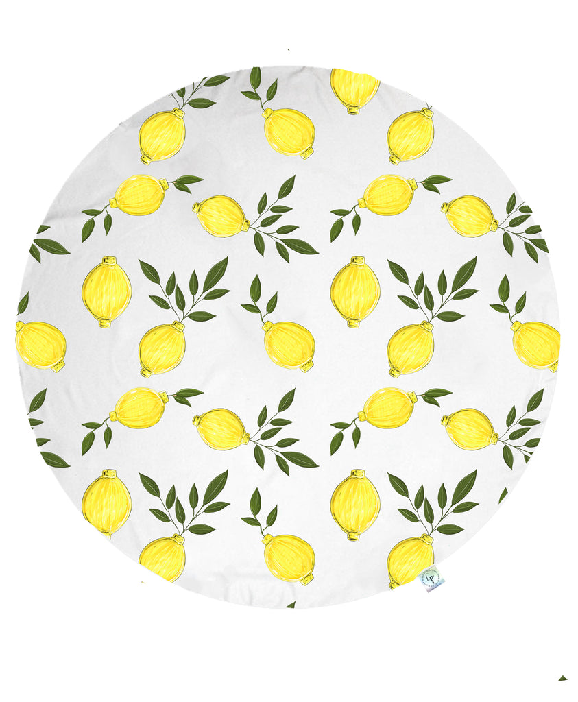 Lemon of My Eye Round Beach Towel