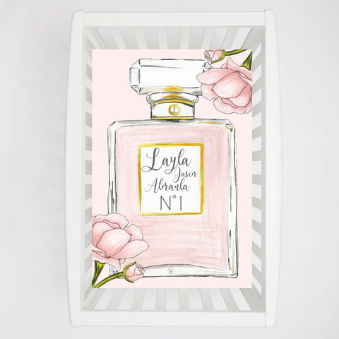 Perfume N*1 Personalized Crib sheet