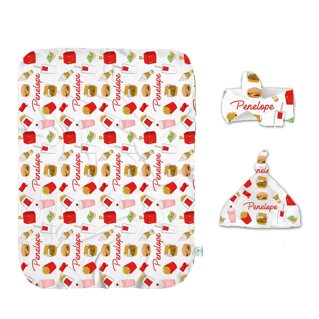 Happy Meal Swaddle Set
