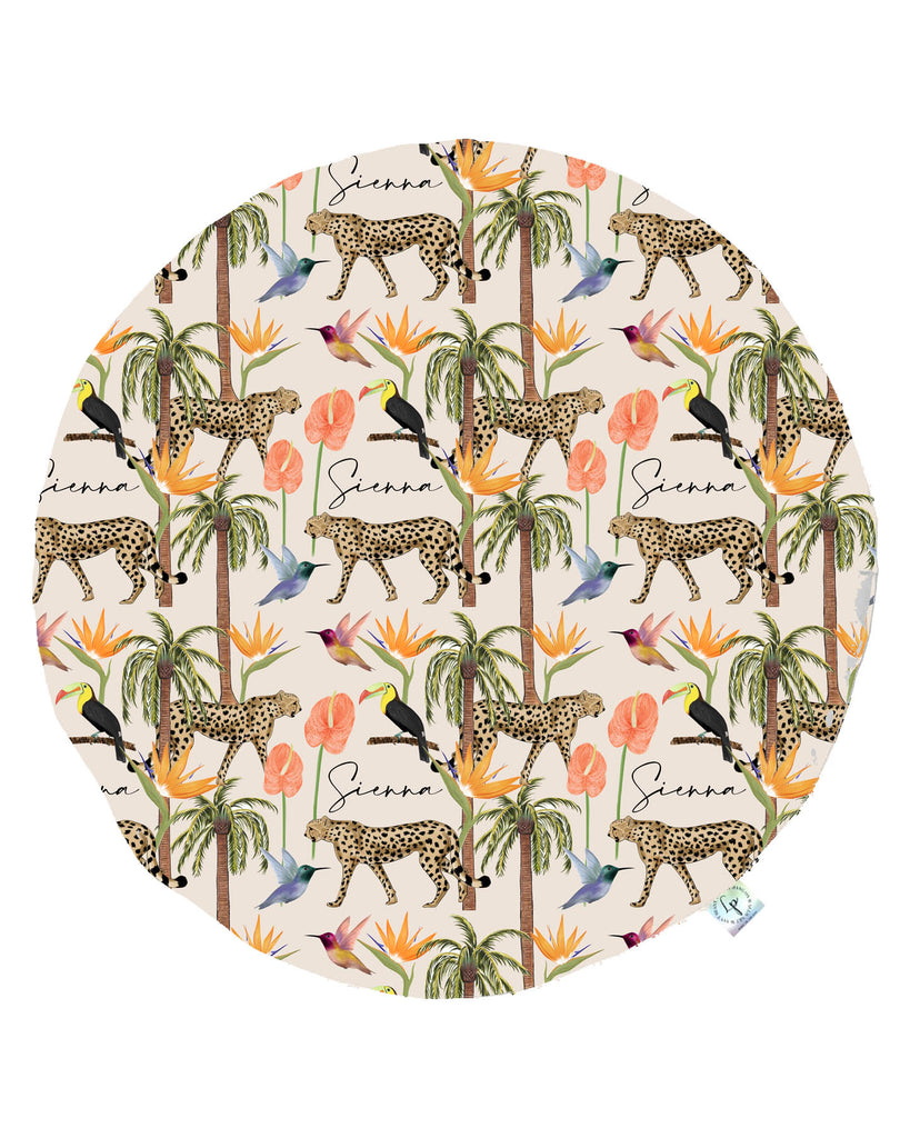 Tropical Tot Round Beach Towel