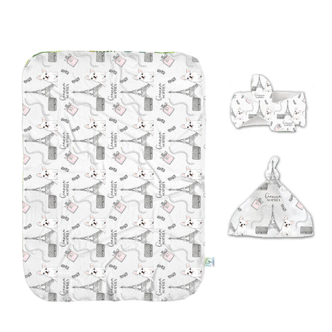 Take Me To Paris Swaddle Set