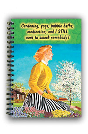 NL0072 Large Notebook: Gardening Yoga