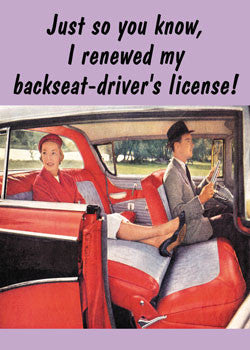MA0116 - Backseat driver's license