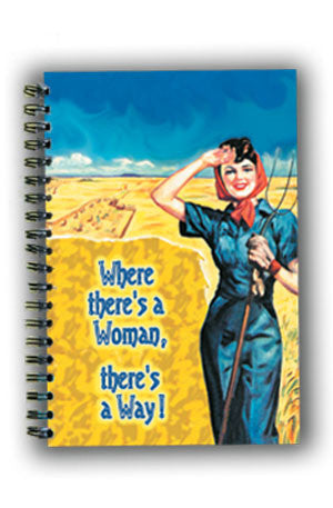 NL0124 Large Notebook: Where there's a woman