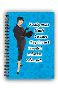 NS0199 Small Notebook: I only wear black