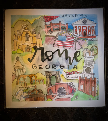 Print Rome GA Collage By Madison Tolbert