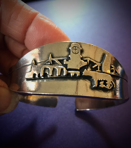 Pewter Bracelet with scenes of Rome Ga