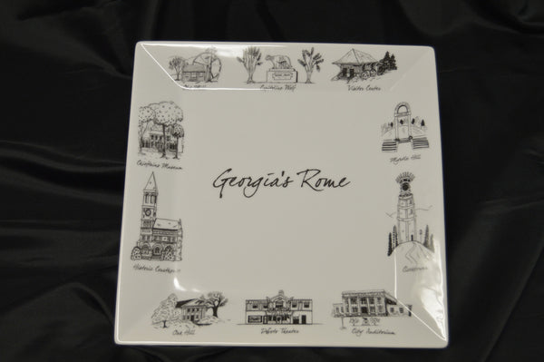 Georgia's Rome Decorate Plate (Square)