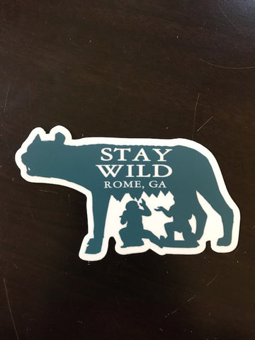 Rome Georgia Sticker with Wolf