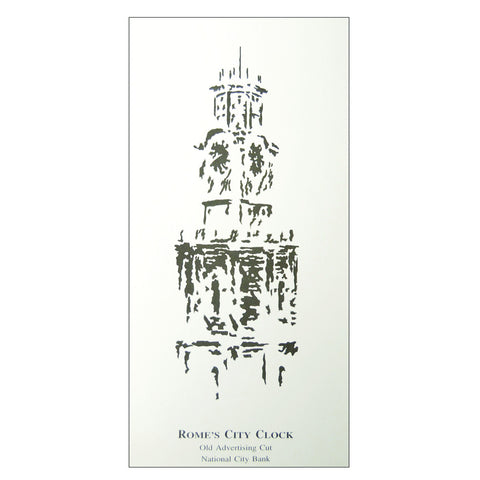 Rome City Clocktower Vintage Print: Limited Edition