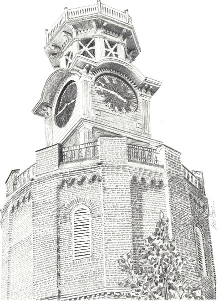 Clock tower print by Greg Peterson