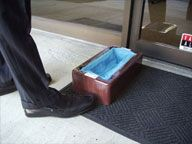 Hands-Free EZ Step Shoe Cover Dispenser