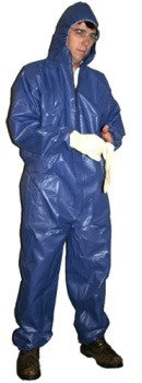 "Aqua Shield Waterproof Coverall (blue) <br /><h6 style=""text-transform:none;"">Case of 25</h6>"