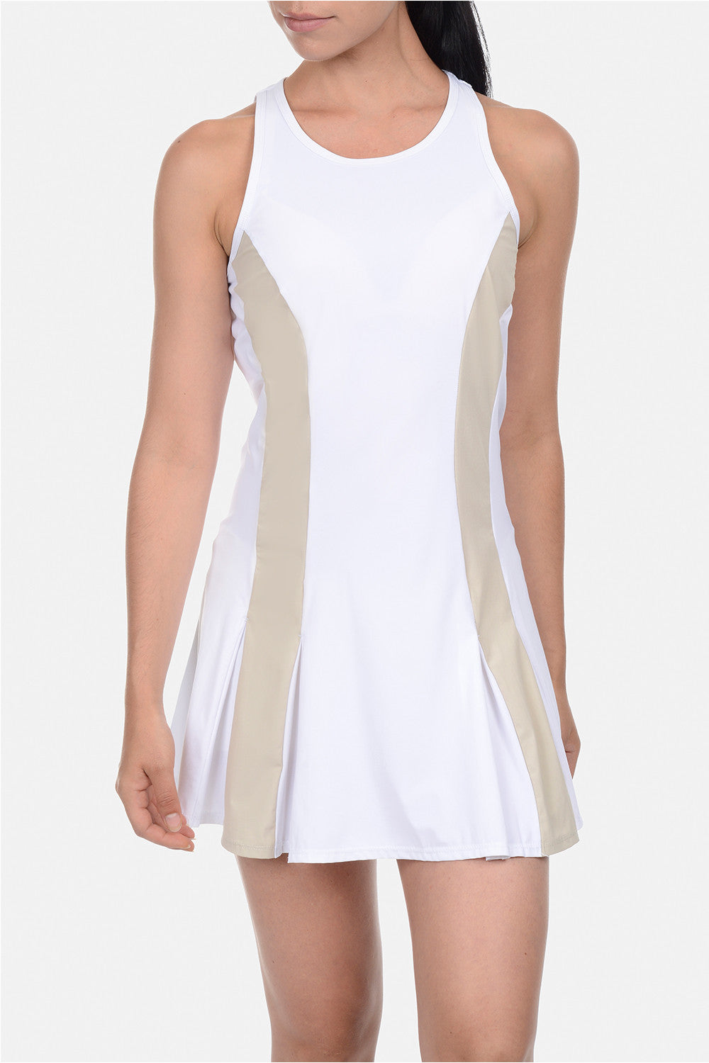 B Fit Racer Back Pleated Tennis Dress