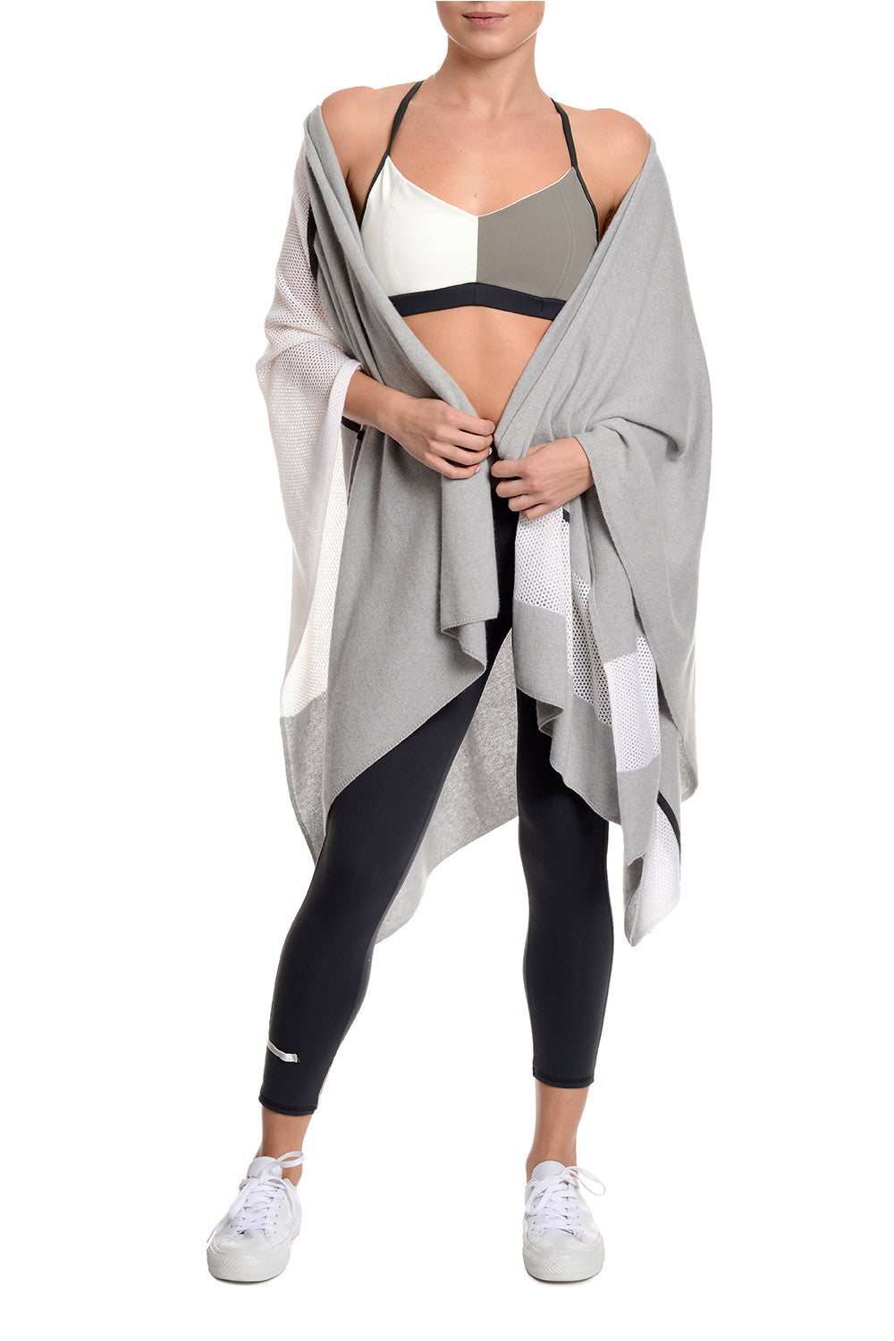 B Comfortable Mixed Stitch Cashmere Wrap
