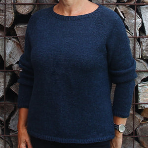 Hanne Larsen Strik - model Raglanbluse Coast