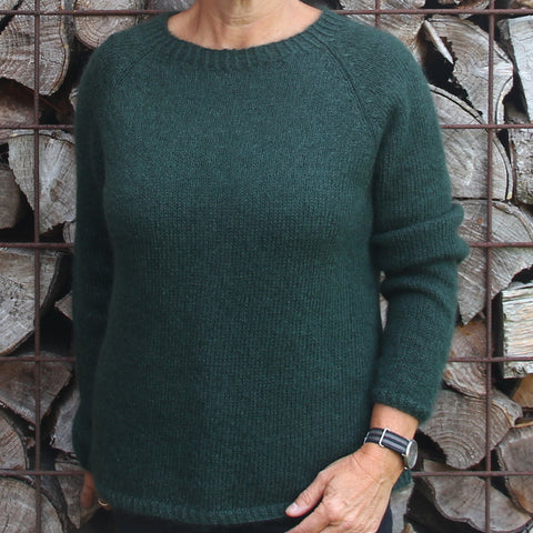 Hanne Larsen Strik - Model Raglanbluse Spinni