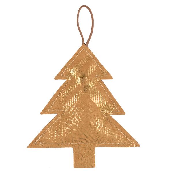 Christmas Ornament Tree Mille Stamp Avana/Gold