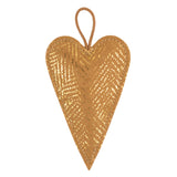 Christmas Ornament Heart Mille Stamp Avana/Gold