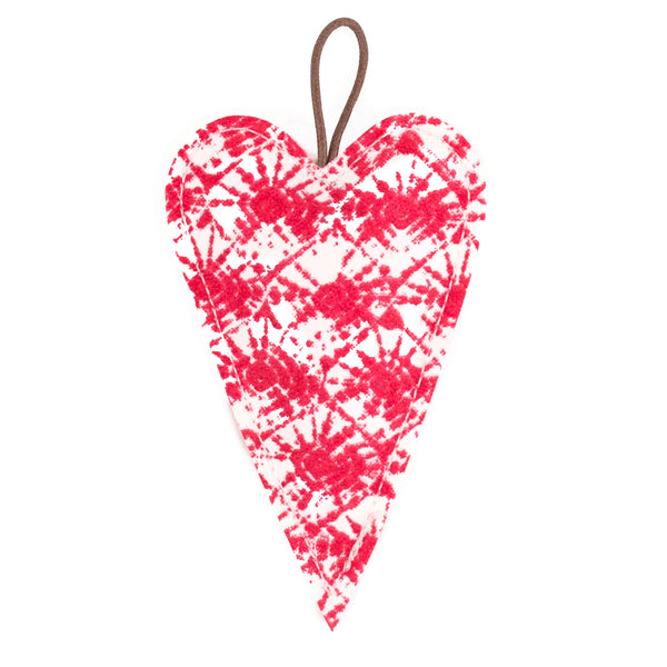 Christmas Ornament Heart Mille Stamp White/Toscana