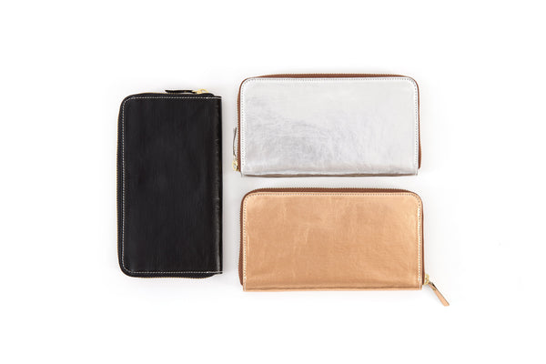 Vita Zipped Wallet Metallic