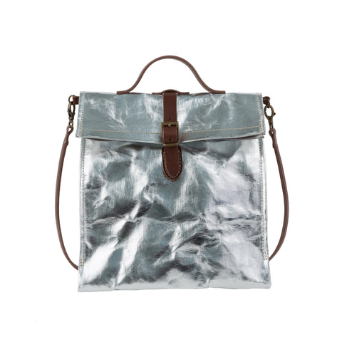 Lunch Bag With Strap Metallic