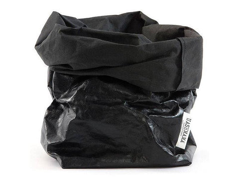 Black/Metallic Black Paper Bag