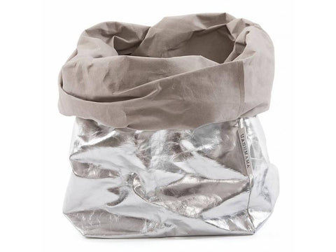 Grey/Silver Metallic Paper Bag