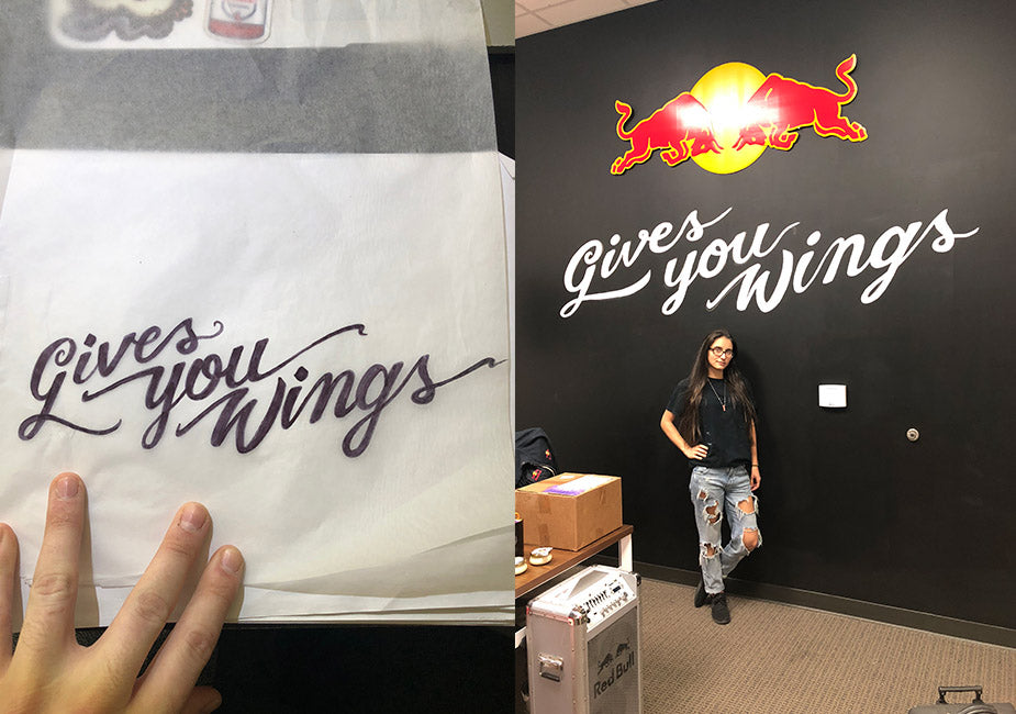 gives you wings redbull orlando corporate office mural by akyros art design company
