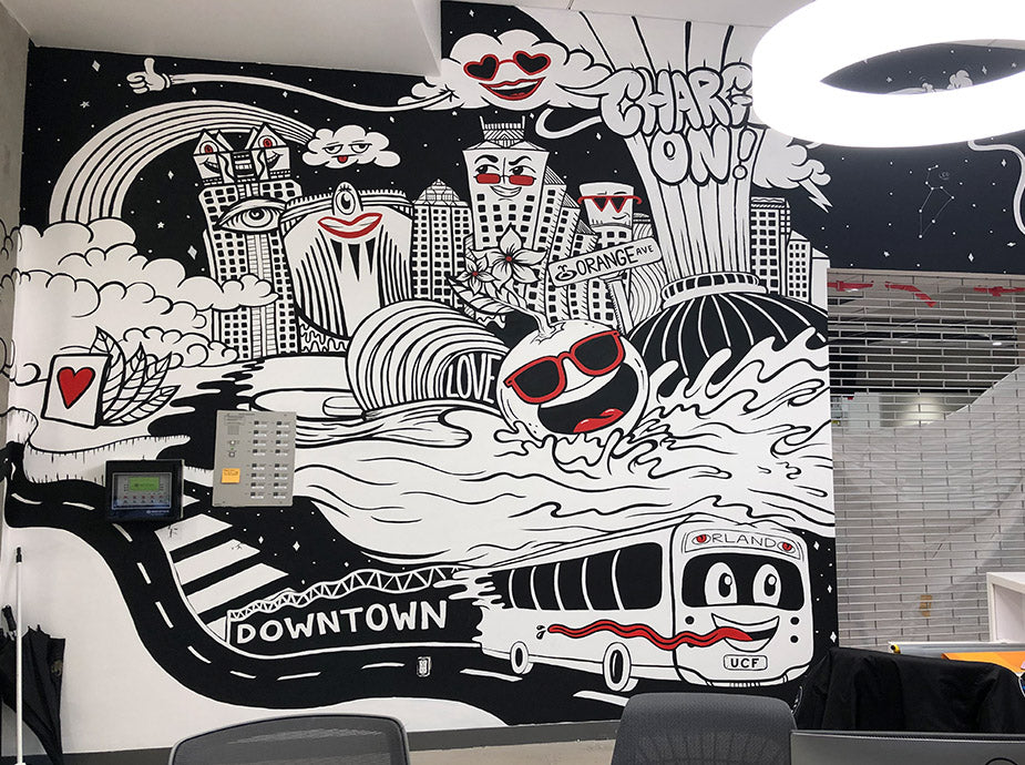 ucf downtown orlando campus mural