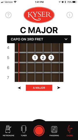 kyser capo app chord finder
